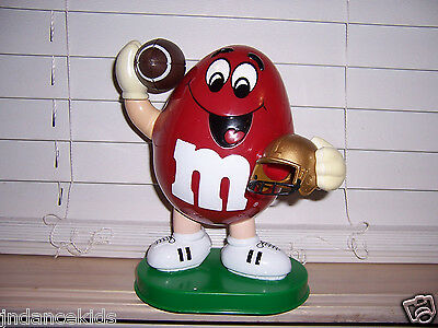 M&M Candy Dispenser RED Football Player
