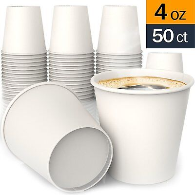 4 oz All-Purpose White Paper Cups (50 ct) - Ideal Bath Cup - by SheriffDrink