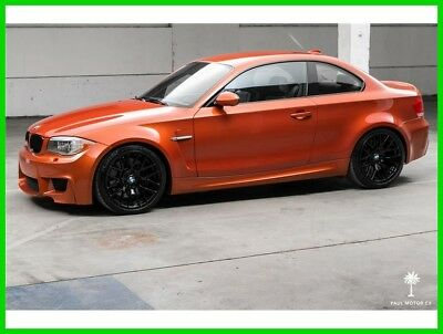 2011 BMW 1-Series 1M 1 Series M Coupe 2011 BMW 1M Manual RWD Coupe