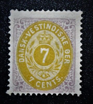 Danish West Indies  1874-79 Sc# 9 Coat of Arms Mint NH NG F/VF (book 1)