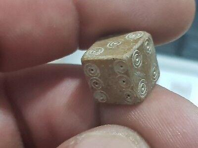 Ancient Byzantine Mamouth B0Ne Dice.gaming Dice 3.4 Gr. 12.6 Mm..