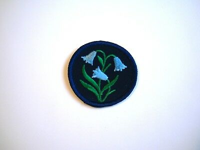 BLUEBELL GUIDE PATROL EMBLEM Badge Girl Guides Scouts Patch Crest Flower GGC