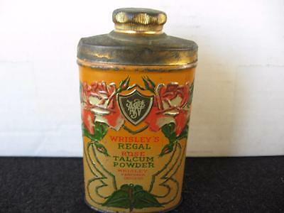 Vintage Wrisley's Regal Rose Talcum Powder Tin~Embossed~
