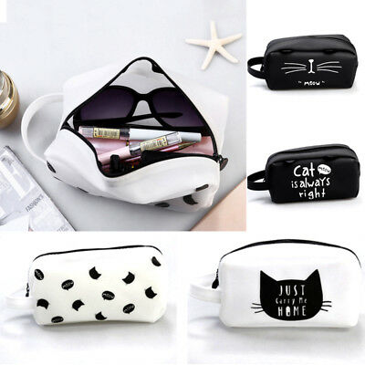 Silicone Cat Makeup Cosmetic Case Pen Pencil Bag Zipper Coin Pouch Purse Sale