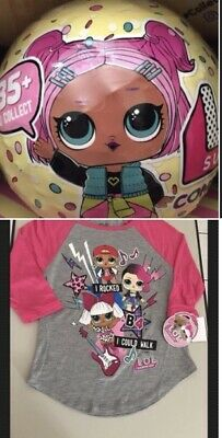 LOL Surprise Doll Shirt M 7/8 + (1) Confetti Pop Series 3 Wave 1 Ball Bundle Lot