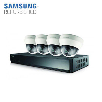 Samsung Techwin SRK-3040S 4-Channel 8MP NVR with 1TB HDD and 4 1080p Dome Camera