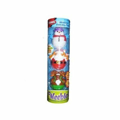 Playskool Weebles Holiday 3 Pack With Santa Clause, Wandy Wanedeer and Cool by
