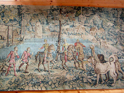 Tapestry, Large French Aubusson Style Wall Hanging (216 xx120cm)