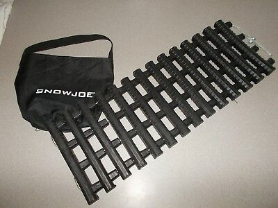 SnowJoe black winter Automobile roll up emergency traction mat track assist new