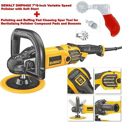 DEWALT DWP849X 7-Inch/9-Inch Variable Speed Polisher Soft Start w/Cleaning Spur