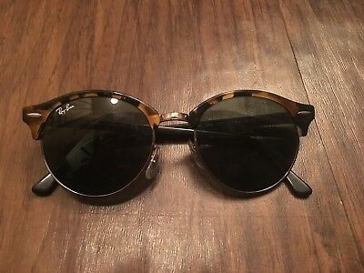 1c20d56200 Ray-Ban Clubround Classic Sunglasses RB4246 990 Tortoise Green G-15 Lens 51