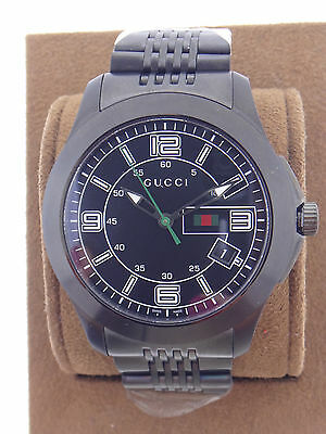 75b101659a6 Gucci YA126202 Chrono G-Timeless Collection Steel Black Dial Mens Watch