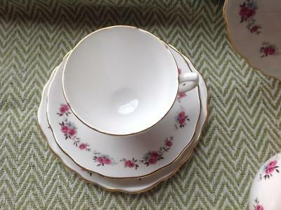 Royal Vale vintage wedding tea party delicate rose cup saucer plate trio