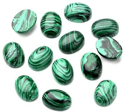 Natural Malachite 20mm Oval Cabochon Gemstone Jewelry Making Wire Wrapping Cabs