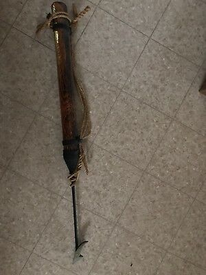 """Vintage Antique Whale Harpoon Seal Spear Whaling Fishing Weapon Brass Point 74"""""""