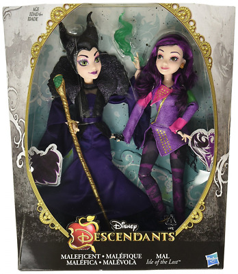 """Disney Descendants Two-Pack Mal Isle of the Lost and Maleficent 12"""" Fashion Doll"""