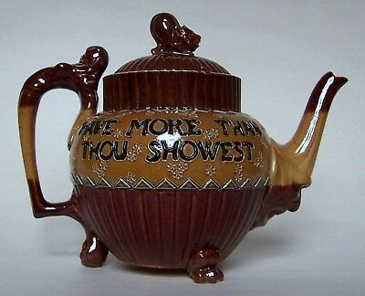 Rare Doulton Lambeth 'Grotesque' Teapot Designed By Mark V Marshall