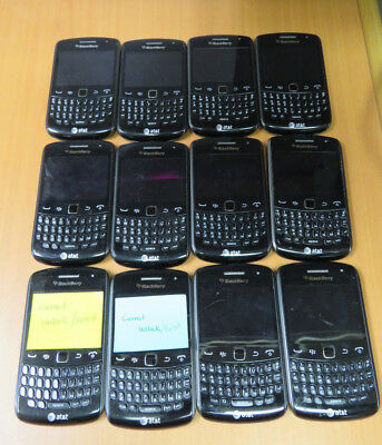 Lot of 12 BlackBerry Curve 9360 - Black (AT&T) Smartphone's