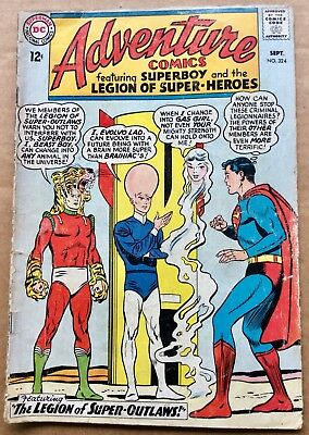 ADVENTURE COMICS #324 (1964) DC Silver Age Superboy & Legion of Super-Heroes VG-
