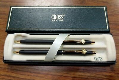 Excellent Cross Classic Black Ball-point Pen and Pencil Set #250105