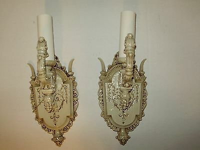 Vintage French Iron Wall Scones Riddle A Pair