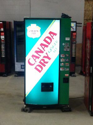 Canada Dry branded Dixie-Narco cold beverage vending machine