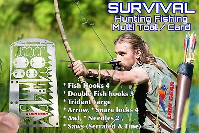1 EDC 24-1 Hunting Fishing Wilderness Survival Card Tool FREE DELIVERY