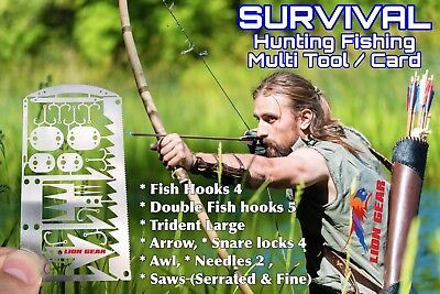 .EDC 24-1 Hunting Fishing Wilderness Survival Card Tool FREE DELIVERY