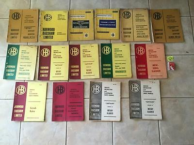 Horwood Bagshaw 13 Genuine service instructions manuals Job lot, bulk buy