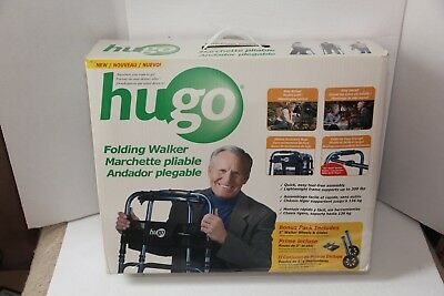 Hugo Folding Walker Model 770-260 Sapphire Blue with Bonus Wheels & Glides