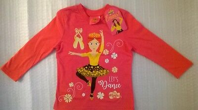 Wiggles / Emma / Long Sleeve Shirt / Girls / Sizes 2, 3, 4 And 5.