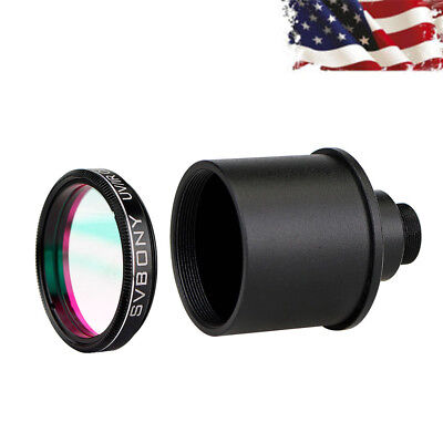 "HOT 1.25"" UV/IR Cut Block Filter+Webcam Adapter for Camera/Telescope Eyepiece US"