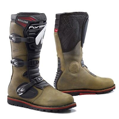 Forma Boulder motorcycle boots, mens, brown, all sizes, trials