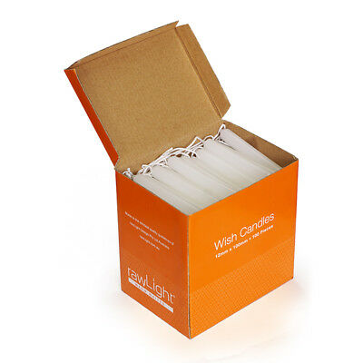 WISH CANDLES - 2 x 100 Pack - 12 x 100mm - White - Unscented