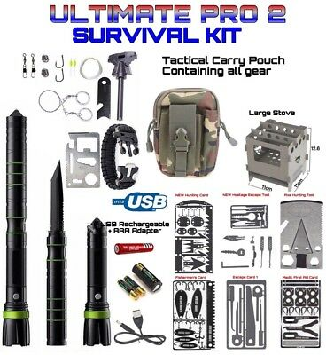 Ultimate Pro Survival Tool Kit Gear GT6 LED 8000 LM Flashlight S30V Knife ++++