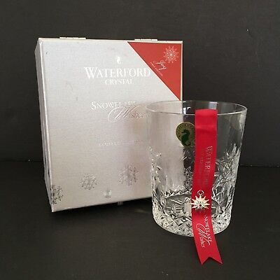 NIB Waterford Snowflake Wishes First Edition JOY Double Old Fashioned Glass