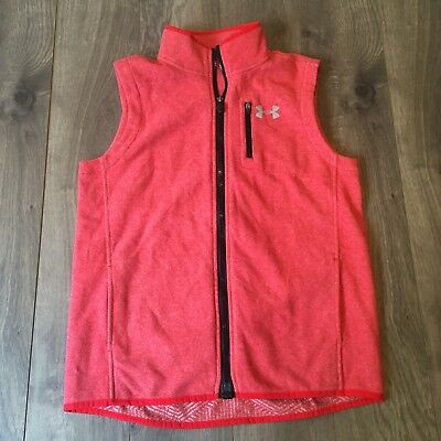 NWT Under Armour UA Fleece Vest Youth XL MSRP $64.99 Red zip Up Boys Athletic