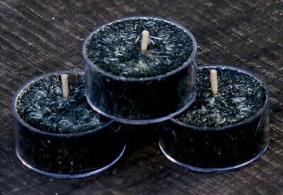 10pk BLACK JASMINE Exotic Scented TEA LIGHT CANDLES 60 hrs/pack WICCA PAGAN ART