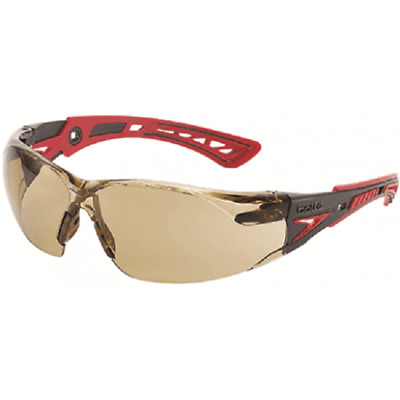 Bolle RUSH PLUS SAFETY SPECTACLE Black/Red Frame, TWILIGHT Lens*Australian Brand