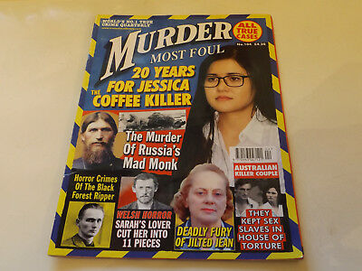 MURDER MOST FOUL MAGAZINE,NO 104,2017 ISSUE,VERY GOOD FOR AGE,01 yr old,V RARE.