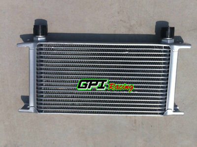 Silver Universal 19 Row AN-10AN Engine Transmission Racing Oil Cooler Aluminum