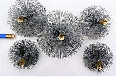 """Wire Chimney Brushes  4"""" - 12"""" for to fit Bailey Brothers Drain Rods Set Sweep"""