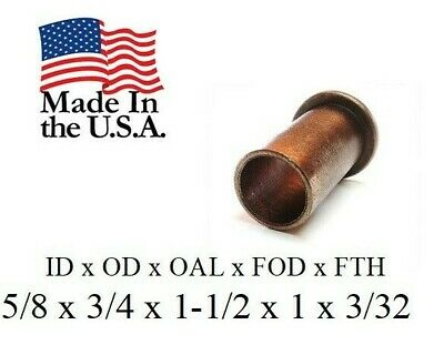 """1pc, 5/8""""x 3/4""""x 1.5"""" Bronze Flanged Discount Bushing,  SF-2024-24, Made In USA"""