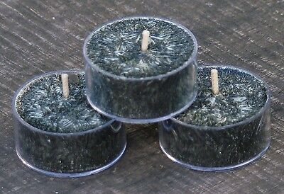 10pk WHITE PEPPER LIME with CHARCOAL & CEDAR Scent TEA LIGHT CANDLES 60 hrs/pack