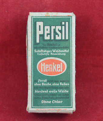 Wehrmacht Wwii German Small Ration Persil Washing Powder Box Rare War Relic