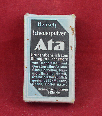 Wehrmacht Wwii German Small Ration Ata Detergent Box Rare War Relic