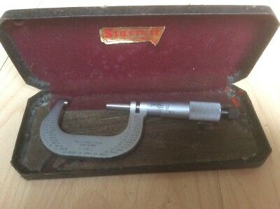 Starrett Metric Micrometer (1982 923-9101) with Original Case