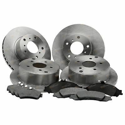 4 Front+Rear Disc Rotors Brake Pads Pack Commodore VT VX VY VZ 1997~2007 Holden