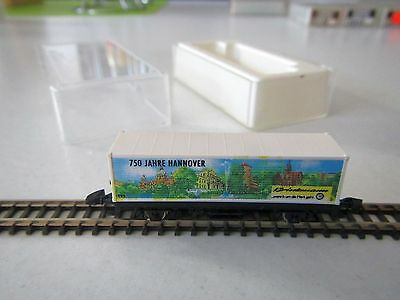 """Marklin mini-club Container Car """"750 Years Hannover"""" Boxed 1:220 Z Scale"""