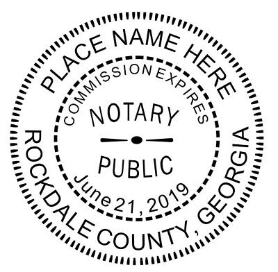 State of Georgia | Custom Round Self-Inking Notary Public Stamp Ideal 400R
